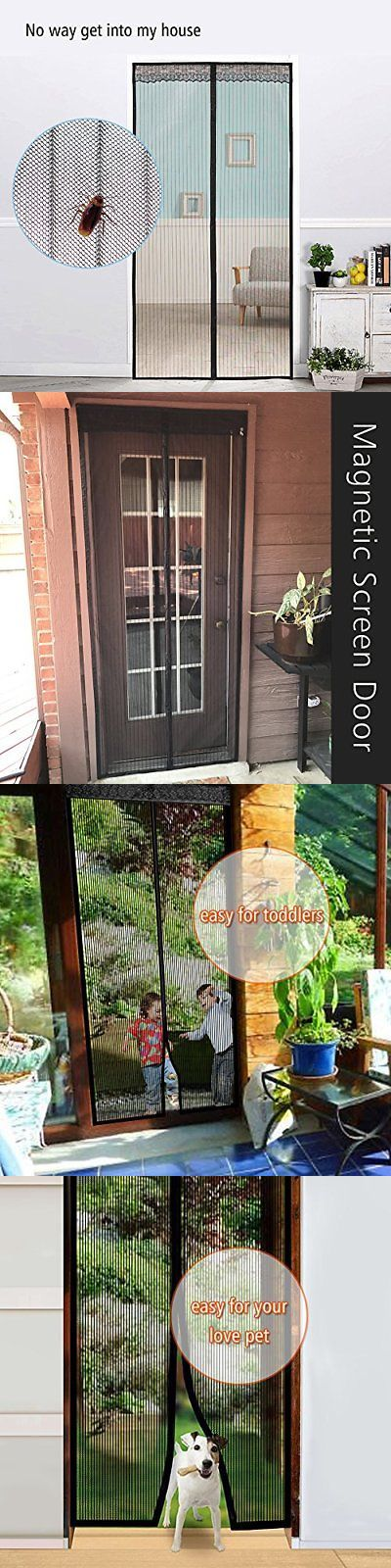 Screen Doors 180968: 35X82 Magnetic Mesh Screen Door Bugs Mosquito Fly Block Air Flow Velcro Frame -> BUY IT NOW ONLY: $35.43 on eBay!