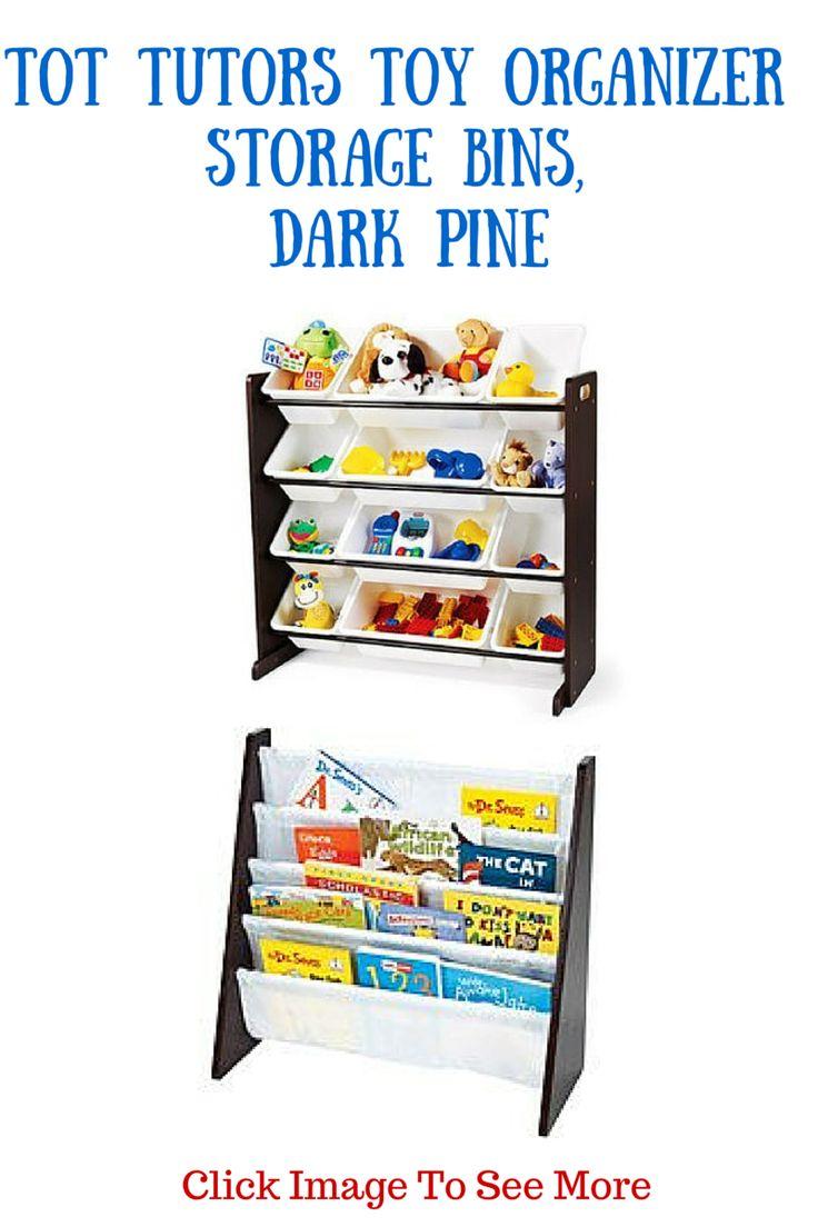 Tot Tutors Toy Organizer Storage Bins Dark Pine  These Tot Tutors Toy Organizer…