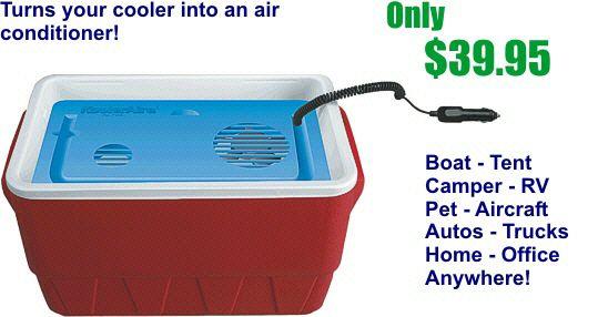 12 Volt Air Conditioner - Portable Air Conditioner  $39.95