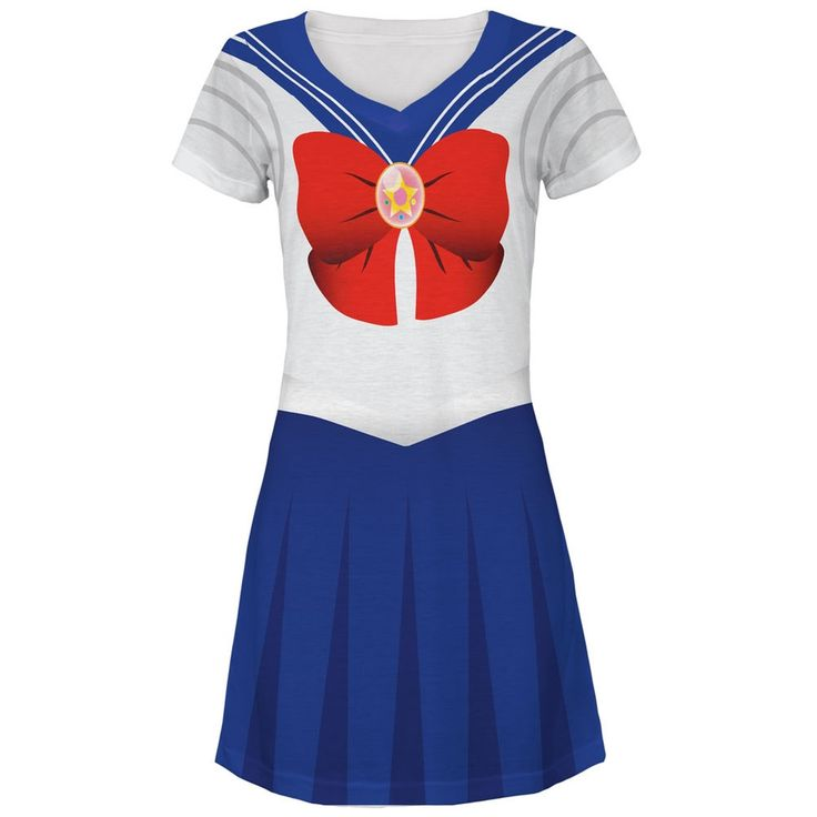 Anime Moon Sailor Costume All Over Juniors V-Neck Dress