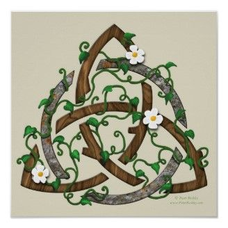 Triquetra (three in one + The circle emphasizes the unity of the whole combination of three forces.)