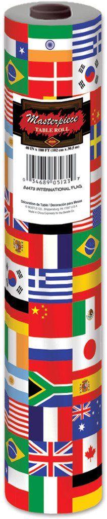 International Flag Table Roll - 2 Units