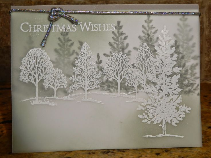 Lovely As A Tree by Stampin Up. I really love, love, love this card. It's not hard to make either. For instructions on how to make it go to http://thescrappingqueen.blogspot.com/2014/11/samping-on-vellum.html