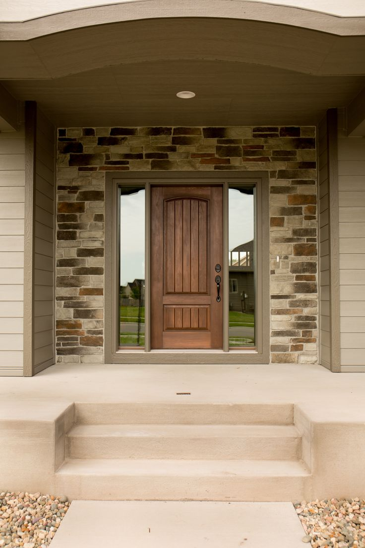 Exterior Doors Fiberglass Two Panel Camber Top Door With