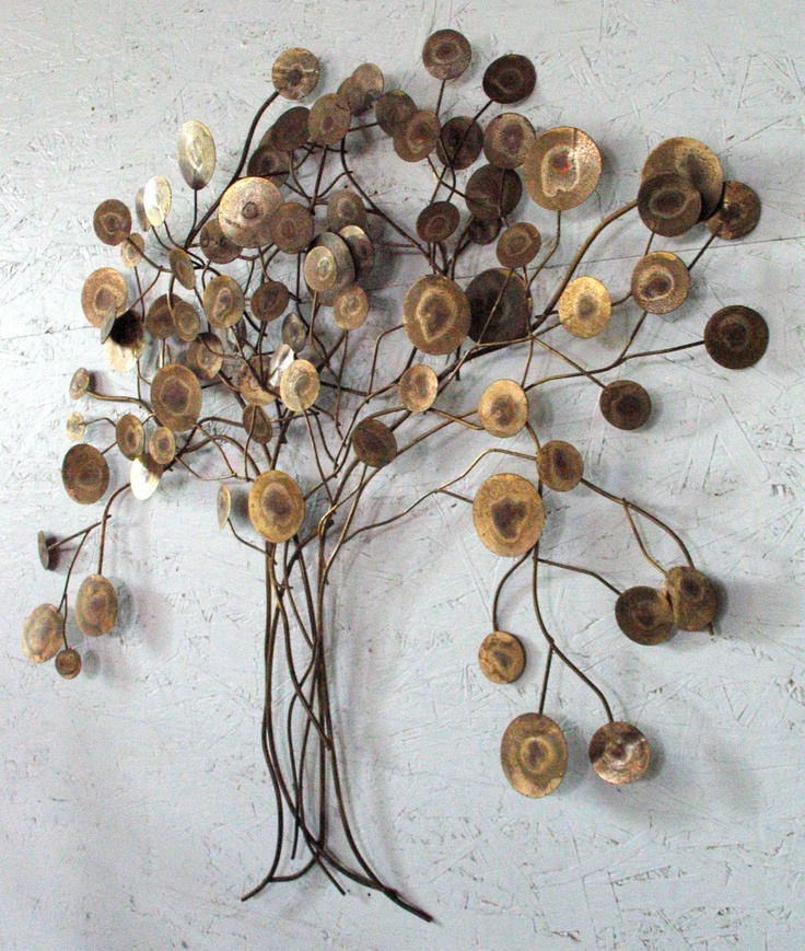 Curtis Jere Raindrops Tree Abstract Metal Wall par