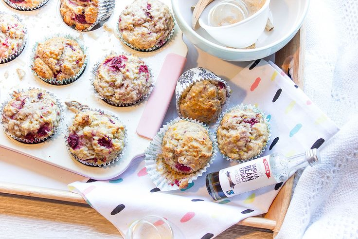 HEALTHY BANANA MUFFINS! Spiked with Raspberries and 100% VEGAN! These are perfect for breakfast or a quick snack on the go!  Find The Recipe at: https://www.bybrogen.com/healthy-banana-muffins  With New Year's fast approaching and plenty of New Years resolutions beginning to arise I thought I would share with you all the muffins that changed everything!
