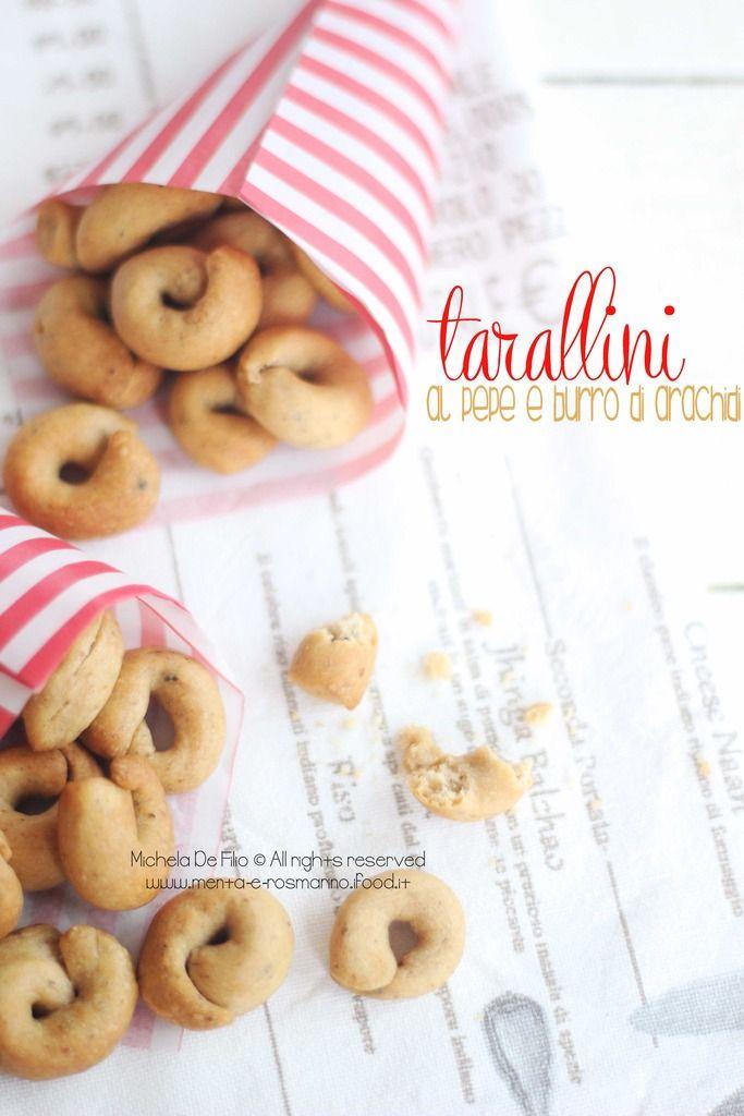 Tarallini al pepe e burro di arachidi | Menta e Rosmarino