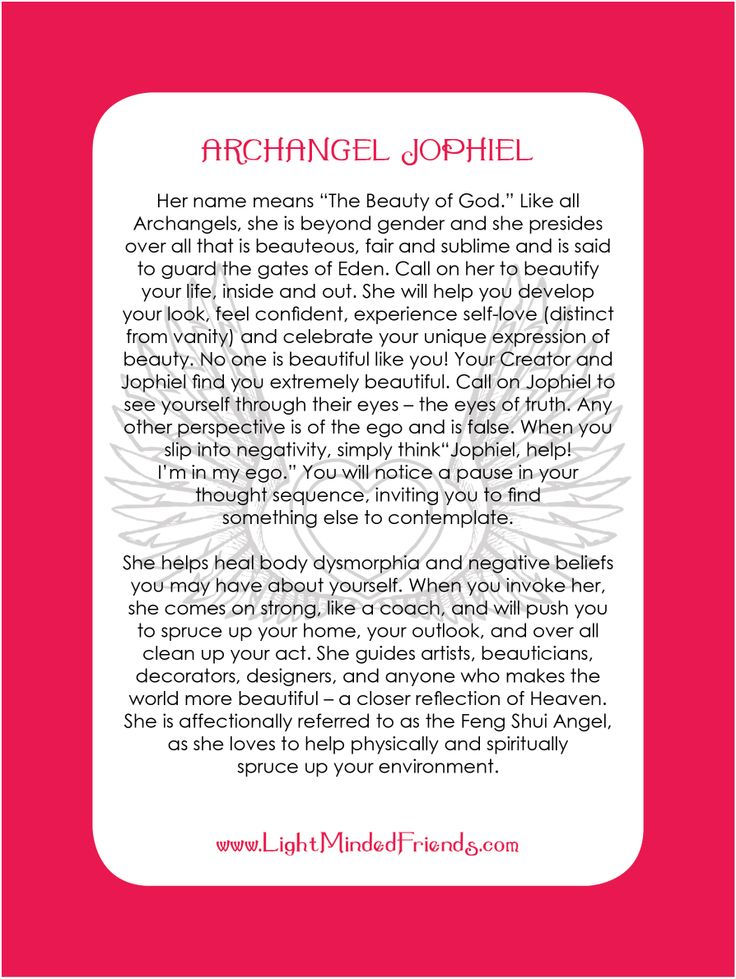 Archangel Jophiel card.   Printed on 310gsm laminated, linen card stock. You get an Archangel cards included with our Archangel crystal bracelets, or they're available as a set of seventeen cards!