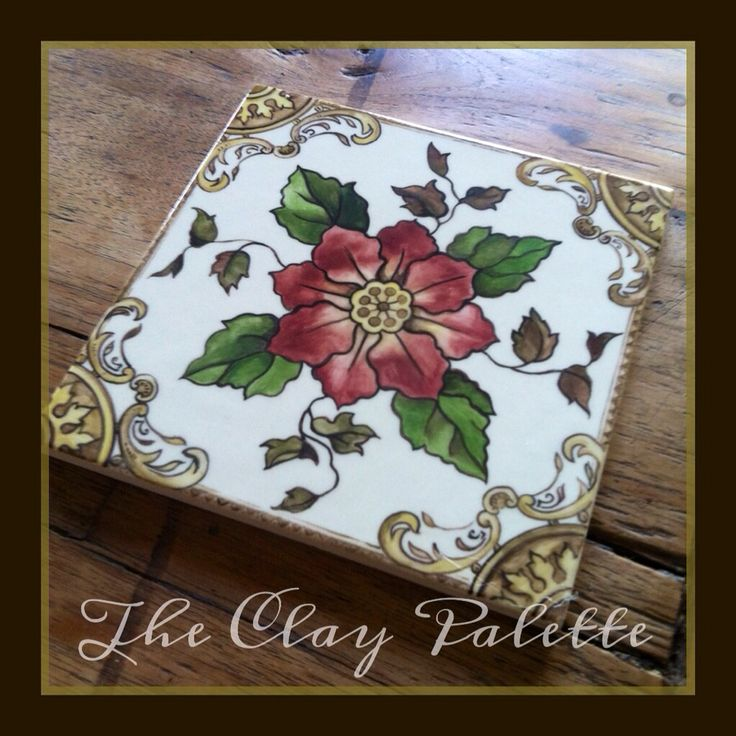 Hand Painted Victorian Tile