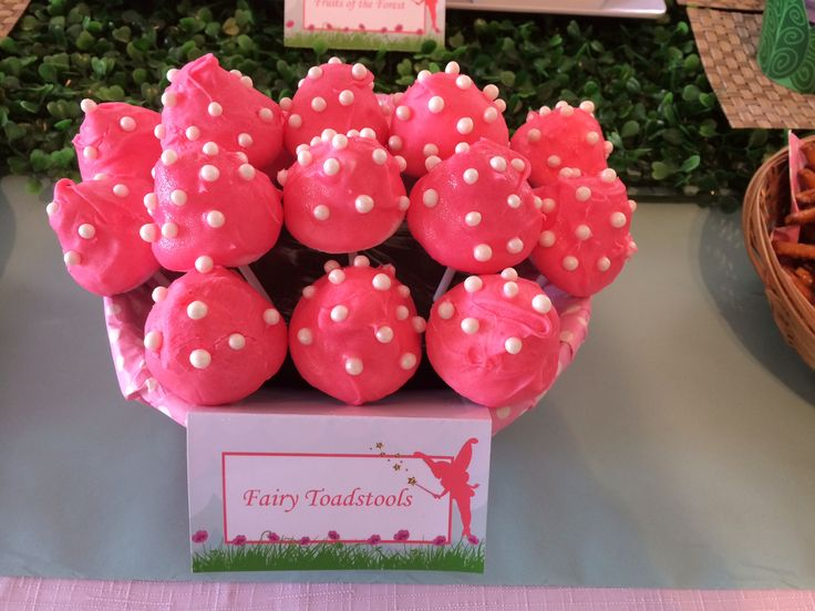Fairy Party - Toadstool Marshmallow pops