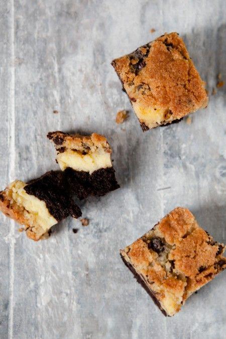 BrownieCheesecake mit Kekskruste