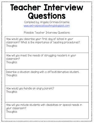 Teacher Interview Tips & Questions | Carrier Prep ...