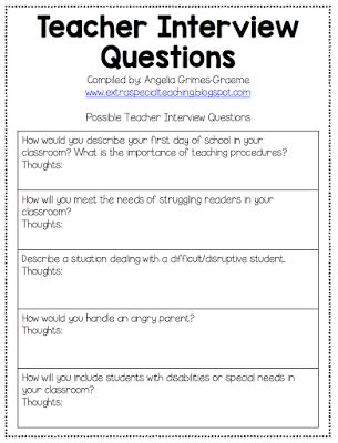 25 Best Ideas About Interview Questions For Teachers On