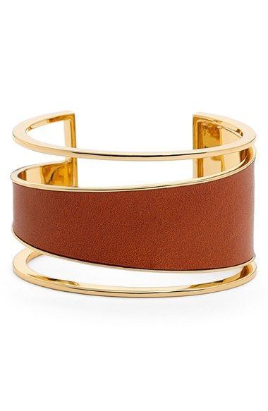 Rachel Zoe 'Alana' Wide Leather Cuff available at #Nordstrom
