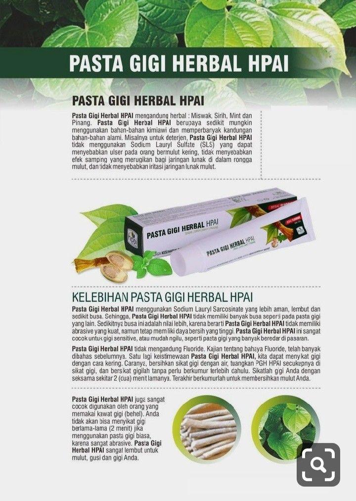 Pasta Gigi Herbal Hpai Kesehatan Alami Herba Produk