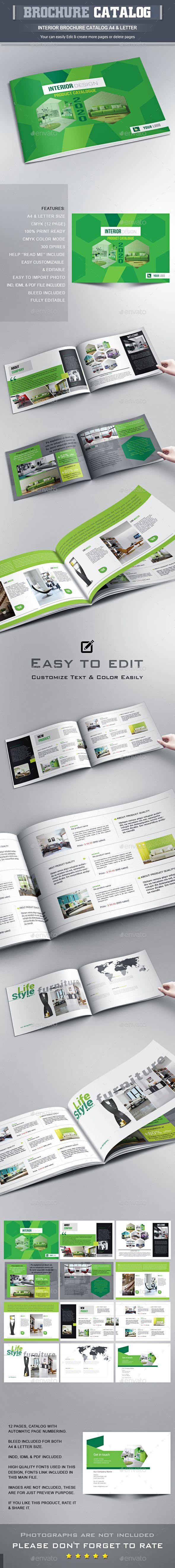 Interior Brochure Catalog Template InDesign INDD #design Download: http://graphicriver.net/item/interior-brochure-catalog-template/13971867?ref=ksioks