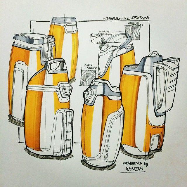 Instagram @wonjin91 - #waterbottles waterbottlesketch #draw #design #drawing…