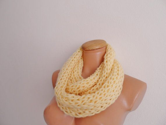 Soft Yellow Cowl Neckwarmer scarf infinity... by vyldanstyle