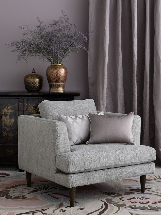 Hollywood (upholstery) and Couture (drapery) by Mokum Textiles.
