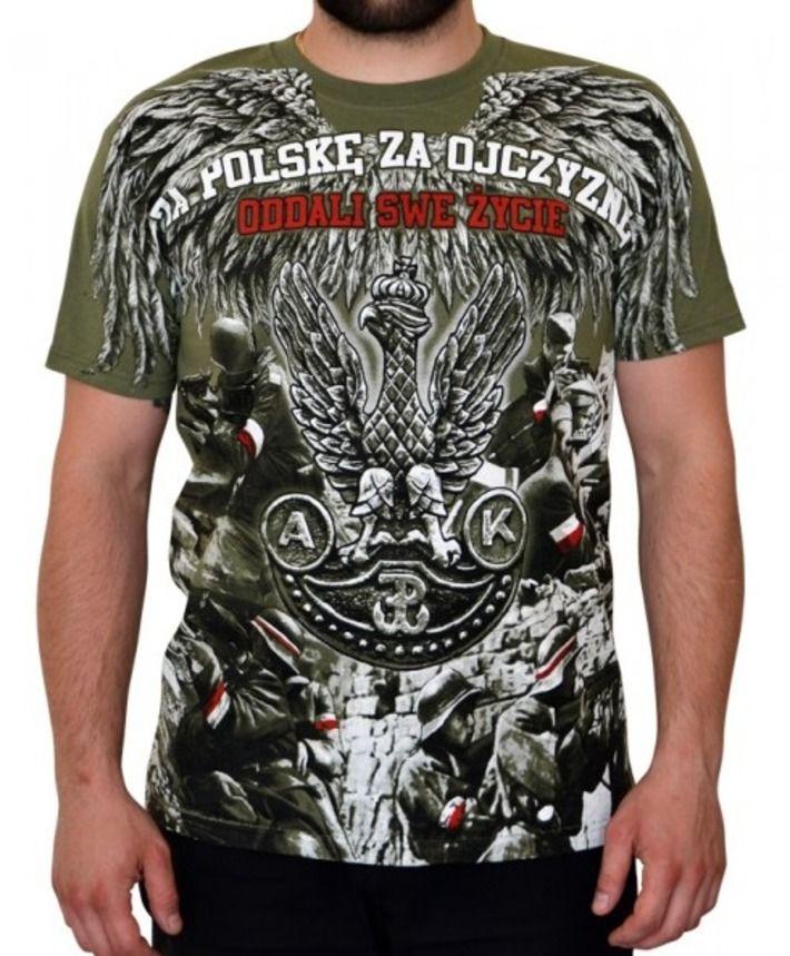 T-shirt patriotyczny 'Oddali swe życie!' HD - przód ---> Streetwear shop: odzież uliczna, kibicowska i patriotyczna / Przepnij Pina!