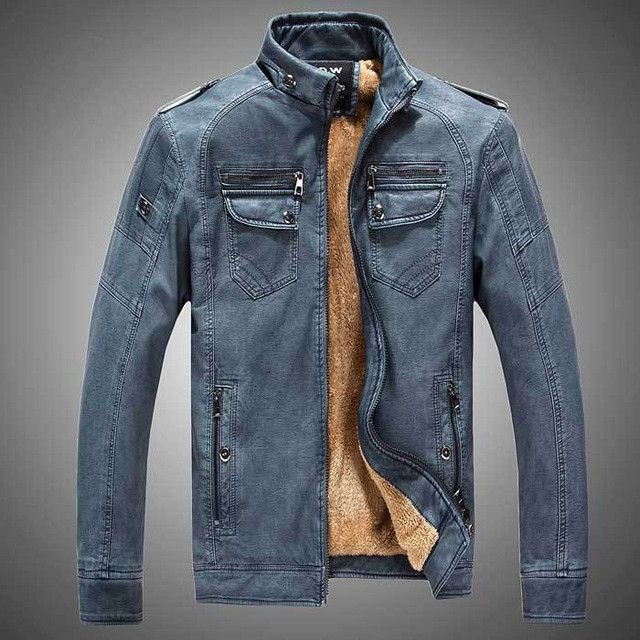 New Lether Jacket Man 2017 Biker Jackets Male Pu Leathers Coat For Men Masculine Jean Jacket Mens Motorcycle Jackets