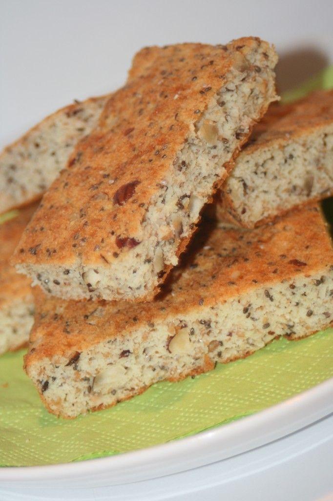 LCHF-bröd med keso, hasselnötter och chiafrön!
