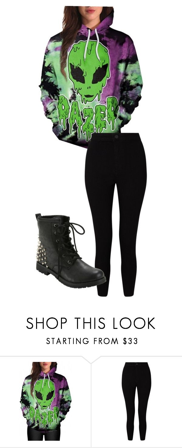 """alien hoodie"" by v-aka-snickers on Polyvore featuring WithChic, Miss Selfridge and Hot Topic"