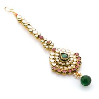 Featuring this Kundan Maang Tikka in our wide range of Hair Accessories. Grab yourself one. Now!