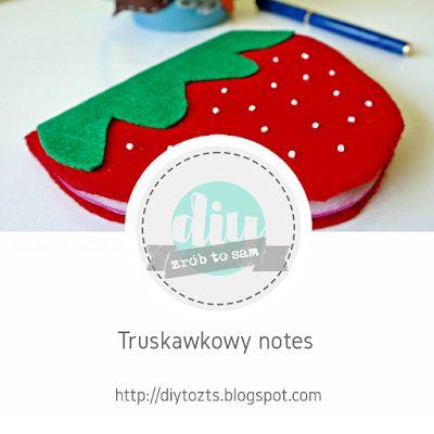 TUTORIAL - Truskawkowy notes #DIY #TUTORIAL #HANDMADE #NOTES #TRUSKAWKA