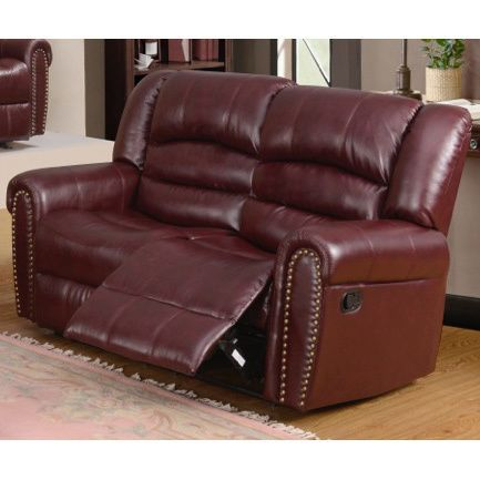 Meridian Chelsea Dual Reclining Loveseat With Nailhead
