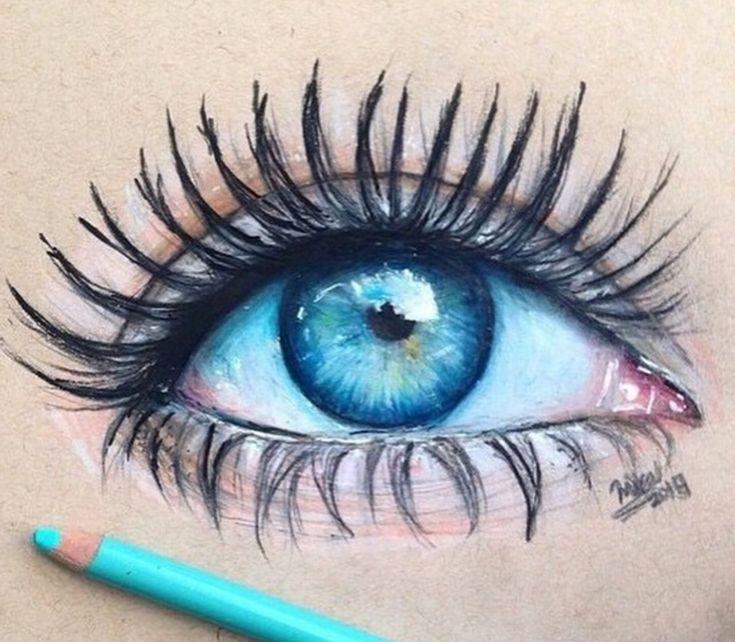 иногда закрадываются картинки с зелеными глазами с карандашом открытка днем