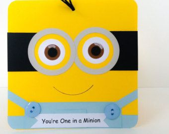 Minion Card Handmade Minion Card for Kids One Eyed by DressItUp4U