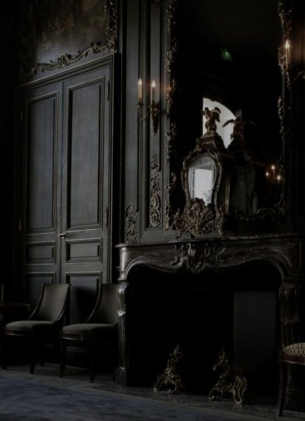 Black classical interior.