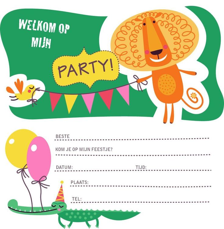 Uitnodiging Kinderfeest : Uitnodiging Kinderfeestje Maken - Uitnodigingmaker - Uitnodigingmaker