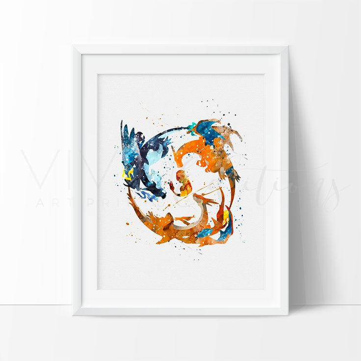 - Description - Specs - Processing + Shipping - Pokemon Go Charmander Watercolor Art Print. - Break away from the mold of big-box stores with this original and unique art illustration which is sure to