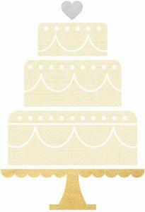 Silhouette Online Store: wedding cake