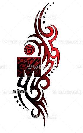 SBink Tribal Ironman ❥❥❥ https://tattoosk.com/tribal-ironman-tattoo
