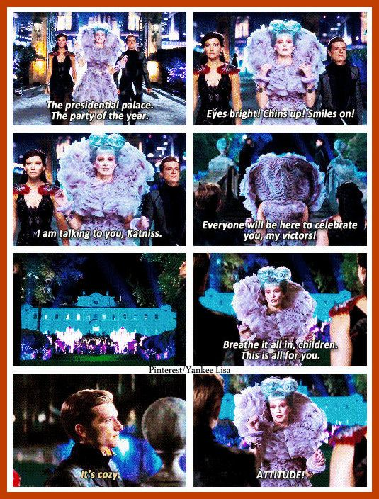 The Hunger Games: Catching Fire. I LOVE Effie, especially her outfits and hair!