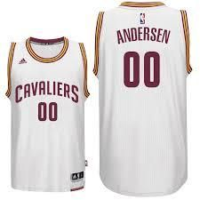 NBA Cleveland Cavaliers Men's #00 Anersen White Stitched Jersey
