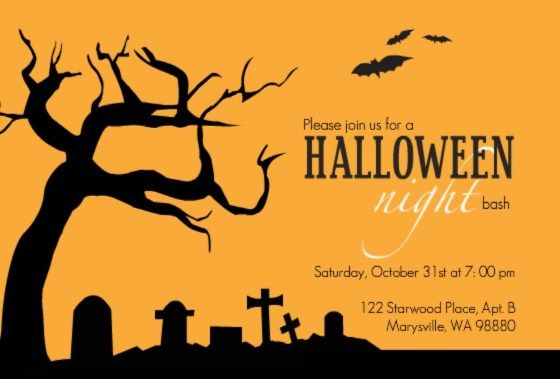 Halloween party invitation by PurpleTrail. Link leads to fun and festive Halloween Trivia.
