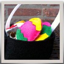 Paasmandje met eieren ~ www.knutselboom.nl