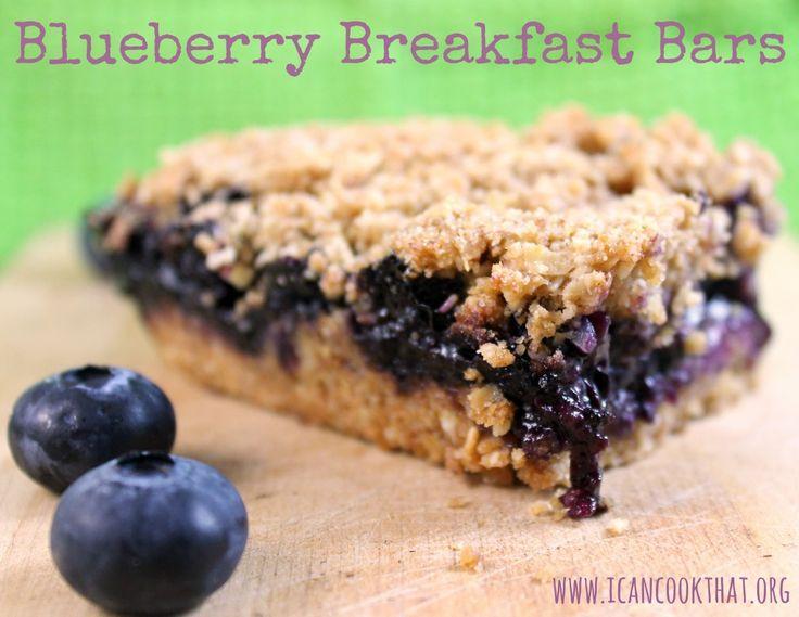 Blueberry Breakfast Bars   Recipe   Breakfast, Bar and Breakfast bars