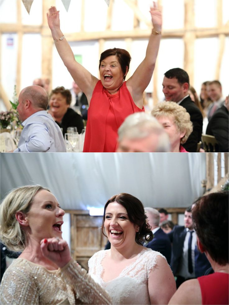 laughter at fun south farm wedding