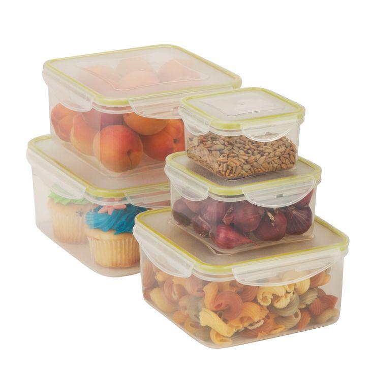 5-Piece Snap-Lid Storage Container Set