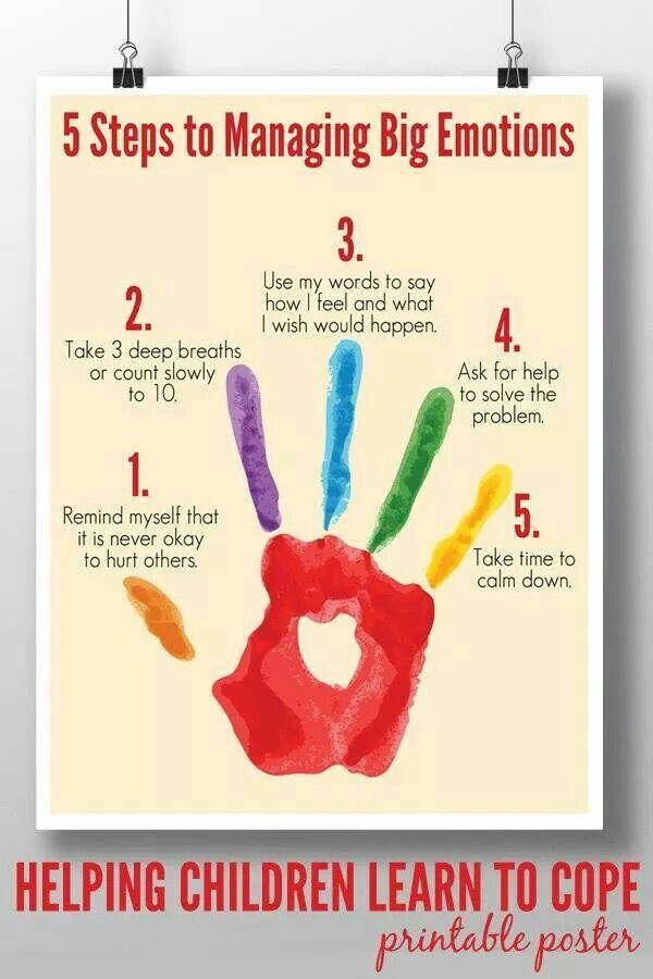 Emotions handprint calming activity