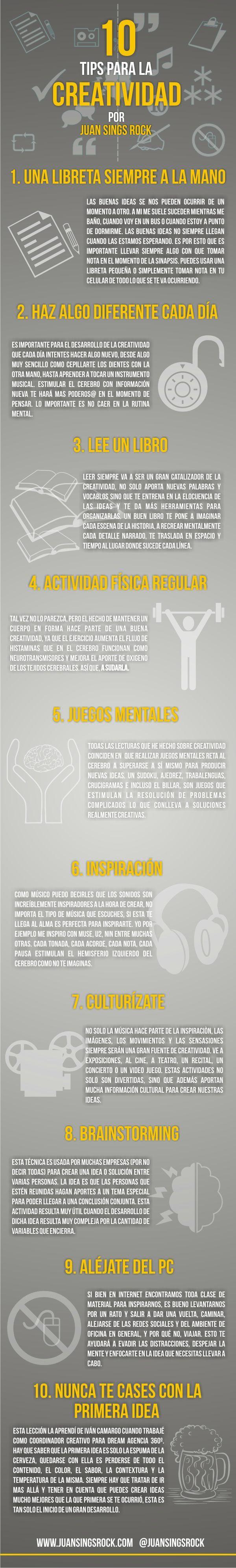 10 tips para optimizar tu creatividad #diseño #creatividad