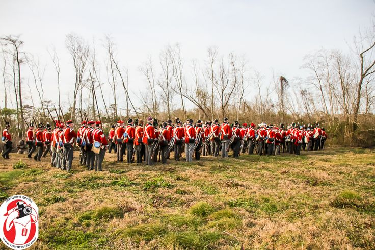 Reenactors celebrate the bicentenial of the battle of New Orleans