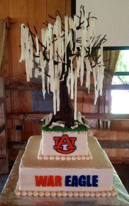 Son's awesome Auburn/Toomer's Corner Oak Groom's cake ...