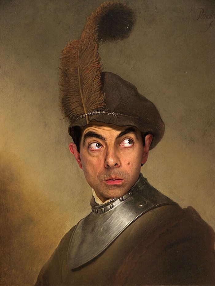 Artist Rodney Pike shows off his superb photo manipulation skills with these hilarious insertions of the beloved character Mr. Bean into historical portraits.