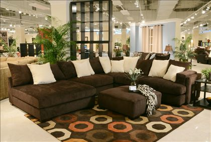Living Room Decor With Dark Brown Sectional